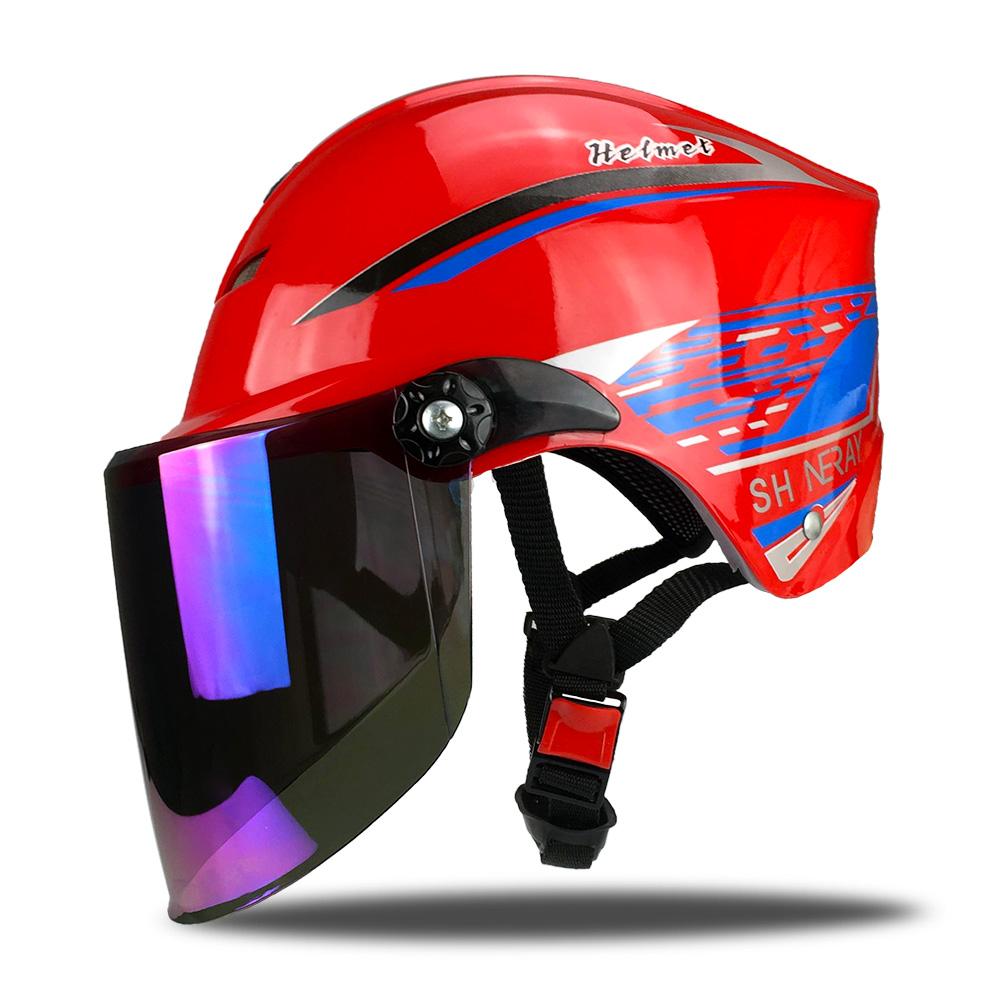 906系红色夏季半盔