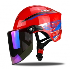 北京906系红色夏季半盔